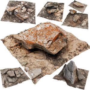 3D model rock scans