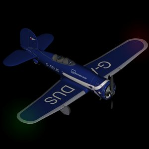 historic lockheed altair 3D model