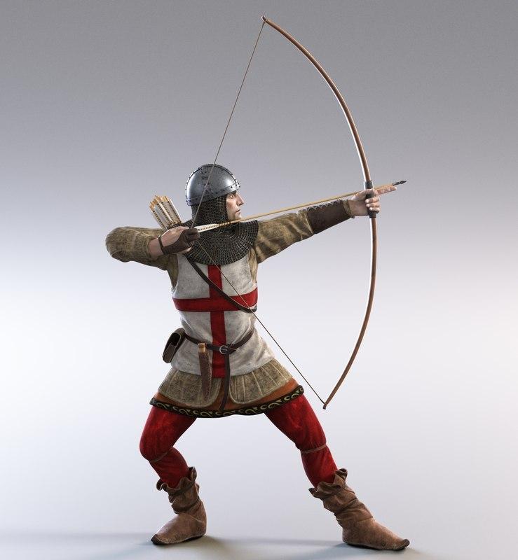 medieval english archer 3D