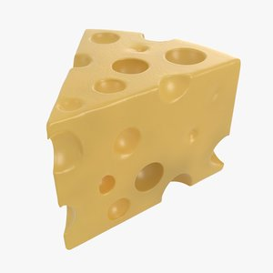 3D cheese piece model