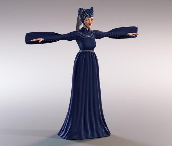medieval lady model