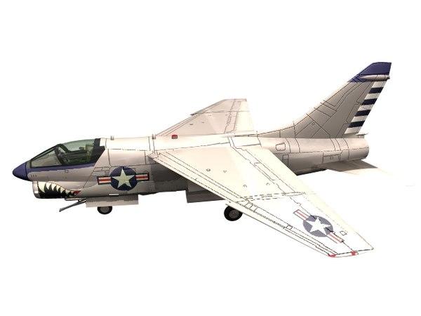 a-7 corsair ii 3D