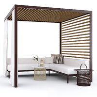 3D gazebo furniture garden arbor model