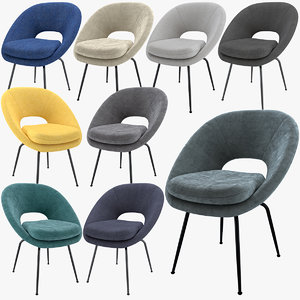 chairs velvet tweed model