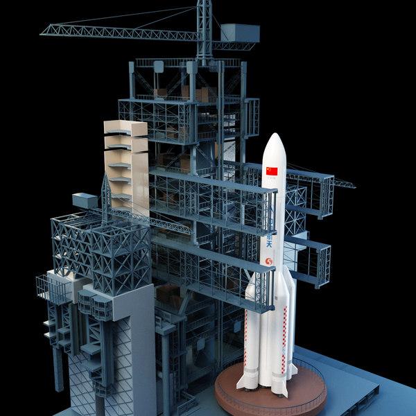 3D rocket tower