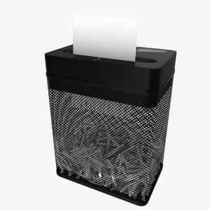 3D paper shredder