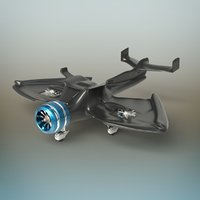 3D futuristic plane