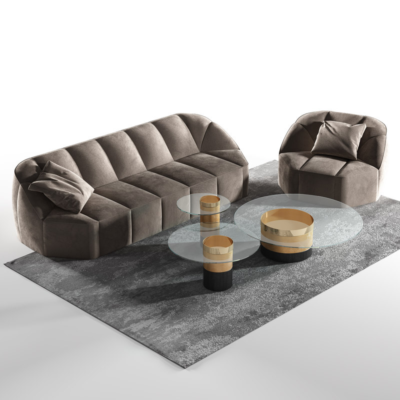 3D gallotti cloud sofa model