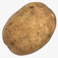 3D model potato 01