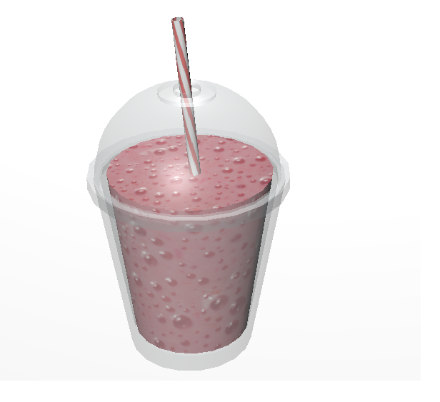 glass milkshake 3D model