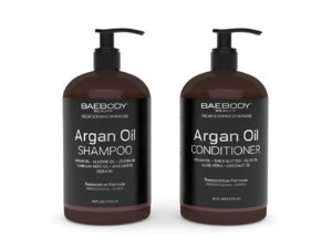 3D moroccan argan oil shampoo model