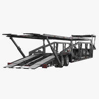 car hauler trailer generic 3D