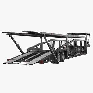 car hauler trailer generic 3D