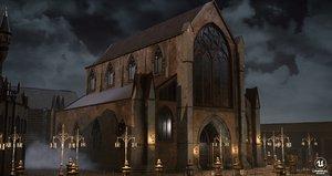 bloodborne church model