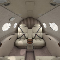 3D complete interior cessna mustang model