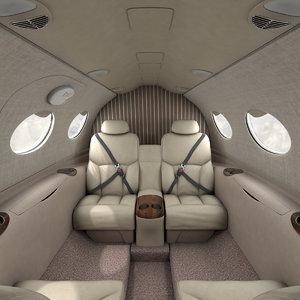 3D complete interior cessna mustang model