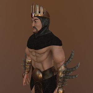 medieval warrior king 3D model