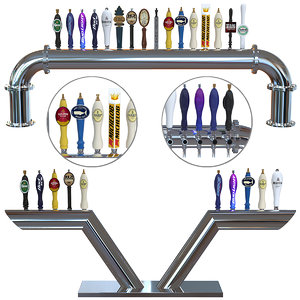 3D beer towers elbe longhorn model