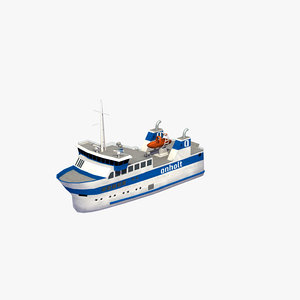 anholt fishing boat 3D model