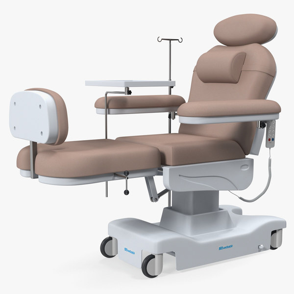 electronic dialysis chemotherapy chair 3D model