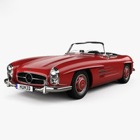 3D mercedes-benz 300 sl model