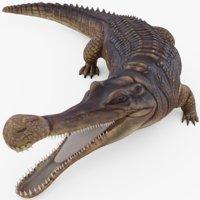 sarcosuchus crocodile rig 3D
