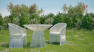 3D tibidabo armchairs table outdoor furniture