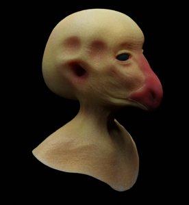 alien head details model