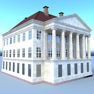 ancient bank building 3D model