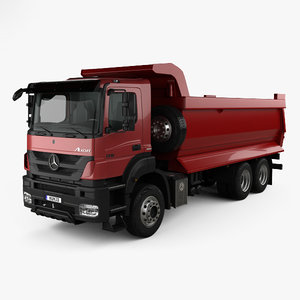 mercedes-benz axor tipper 3D model