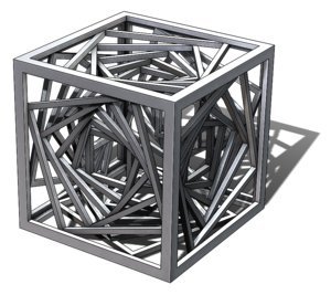 3D tesseract vortex