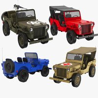 3D model real willys jeep