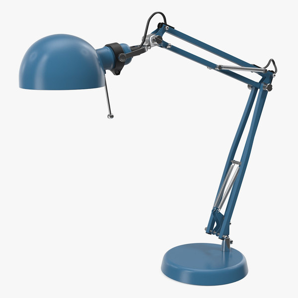 3D desk lamp blue model