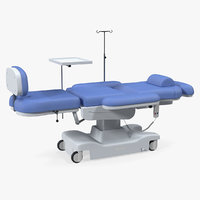 Electronic Medical Procedure Chair 3D Model