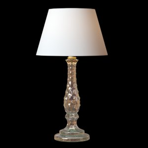 3D antique murano crystal table lamp model