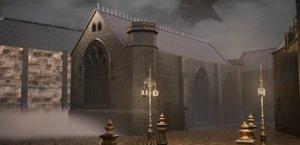 3D bloodborne church pbr model