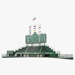 3D wrigley field scoreboard