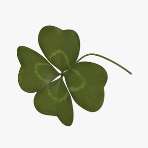 3D clover shamrock flower model