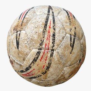 old rotten football 3D model