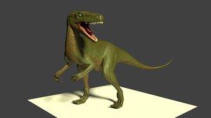 3D model dinosaur herrerasaurus