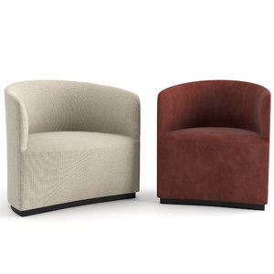 tearoom lounge chair club 3D model