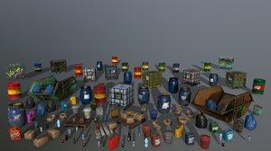 3D barrel bottle box