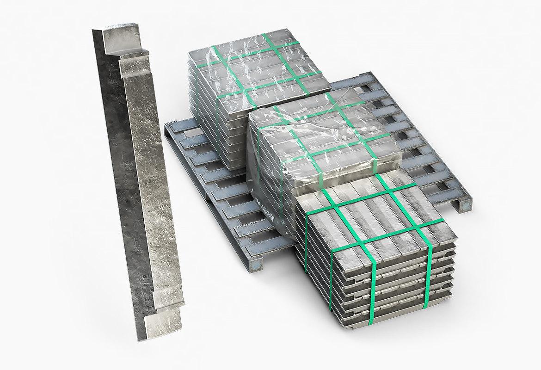 3D ingots aluminium zinc nickel