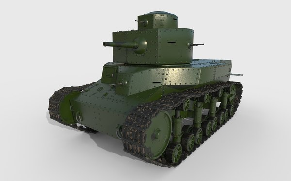 soviet t-24 3D model
