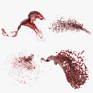 3D model 4 blood splash