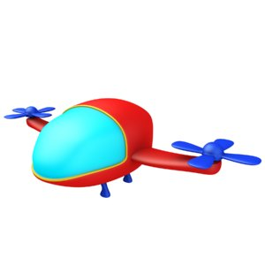 cartoon helicopter 3D model