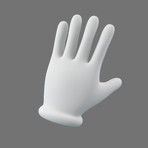 cartoon hand glove 3D model
