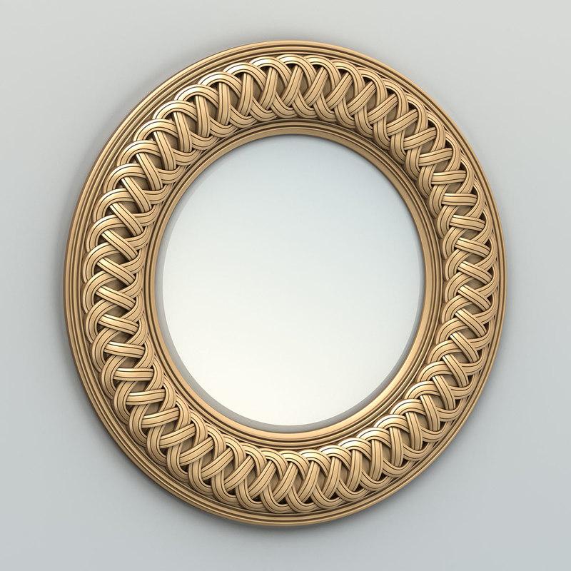 carved mirror frame 3D