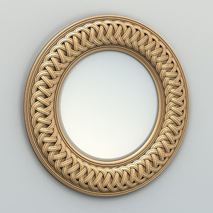 carved mirror frame 3D