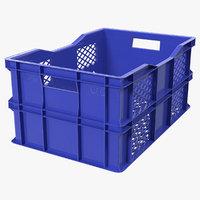 Vegetable Square Plastic Crate